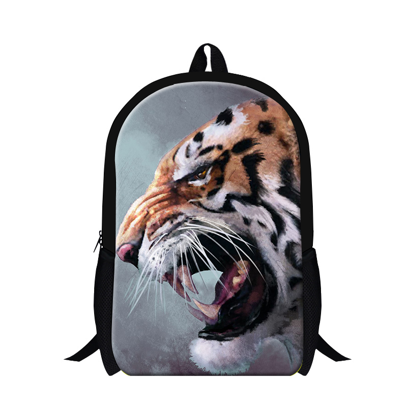 2016 Tiger Backpacks for Boys School Bags for Teenagers Animal Printed Back Pack Cool Mochilas Schoolbags for Primary Students