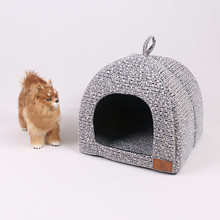 PP Cotton Pet House Movable Dog Cat Beds High Quality Square Kennel Cover Easy Cleaning Mats Removable Plus Size