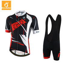 EMONDER 2018 Summer Short Sleeve Cycling Set Mountain Bike Clothing High Quality Bicycle Jerseys Clothes Maillot Ropa Ciclismo