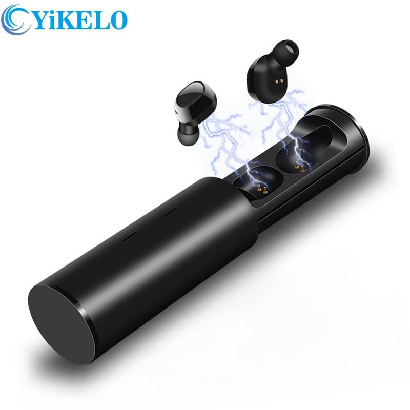 Bluetooth 5.0 TWS Wireless Earphone Handsfree Mini Headphone Sports Earbuds Phone Sports Noise Cancelling Headset charging box