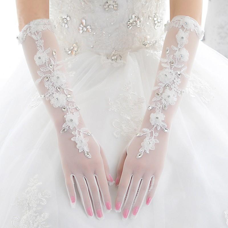 2016-White-Bridal-Gloves-Finger-Wholesale-Elegant-Lace-Appliques-Crystal-Bridal-Wedding-Gloves-