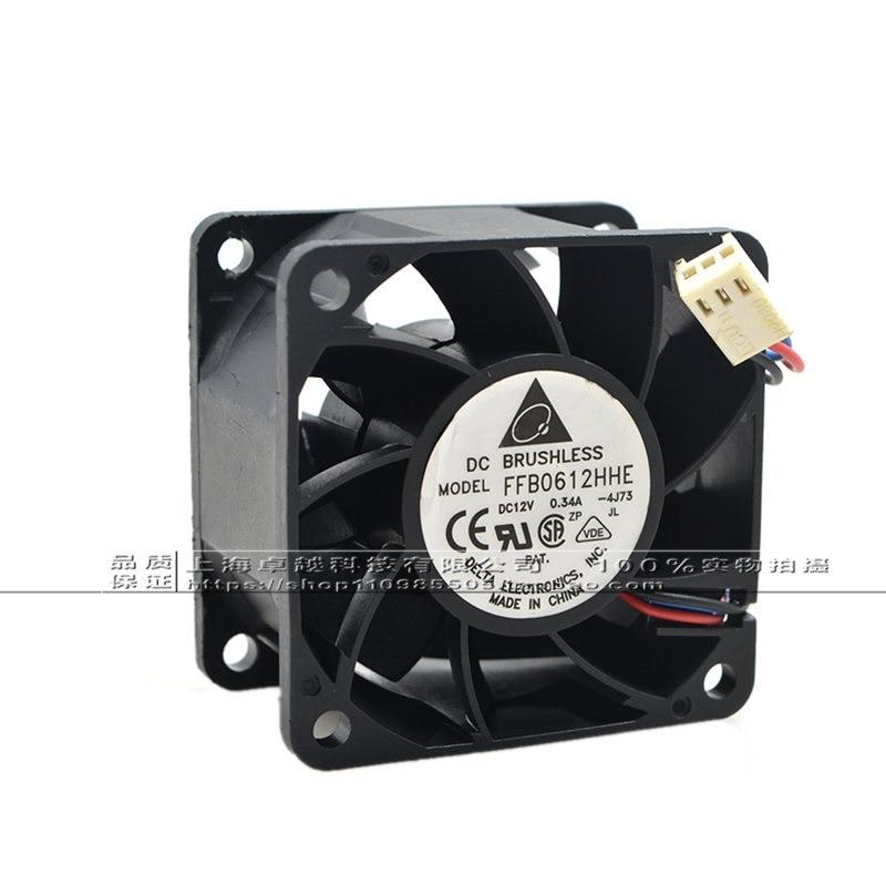 New original 6038 6CM FFB0612HHE 24V 0.34A large air volume double ball cooling fan original delta 9050 9cm air volume fan 12v 1 56a gfb0912shg double leaf fan
