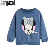 Jargazol Kids Kleding Meisjes Sweatshirt 2018 Herfst Cartoon Mickey Minnie Brief Gedrukt Baby Boy Sweatshirts Casual Katoenen Tops(China)