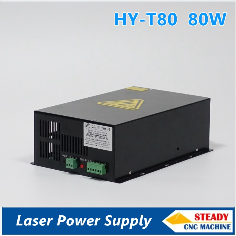 best quality 80W CO2 laser power supply 220V for laser engraving machine HY-T80 high voltage flyback transformer hy a 2 use for co2 laser power supply