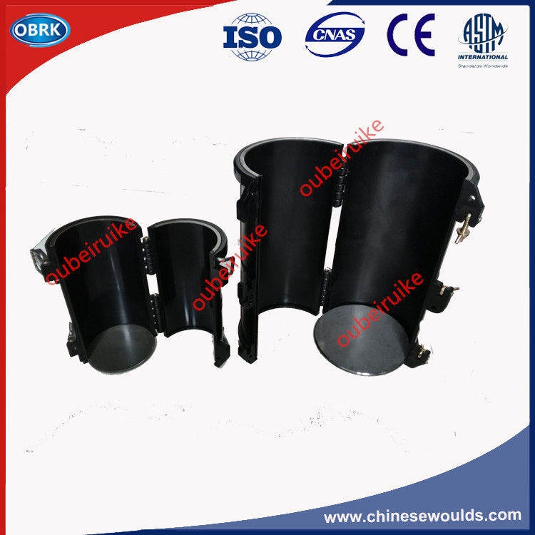 Dia.150x300mm détachable cylindre en béton moules en plastique Flux électrique moules en plastique cylindre