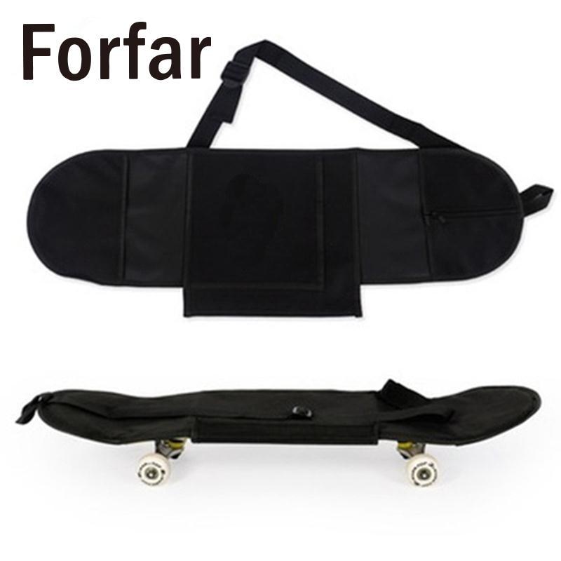 Black Carry Bag Skateboard Backpack Adult Skateboard Deck Backpack Outdoor Backpack Practical Durable