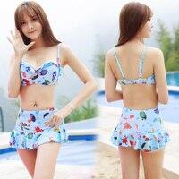 Reim Dame neue design bikini Asien stil print floral badeanzug strand abdeckung badeanzug XL größe heißer verkauf auf lager