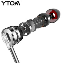 Super Bass In-ear Earphone YTOM Brand Metal HIFI Stereo Sound Music Earbud Heads