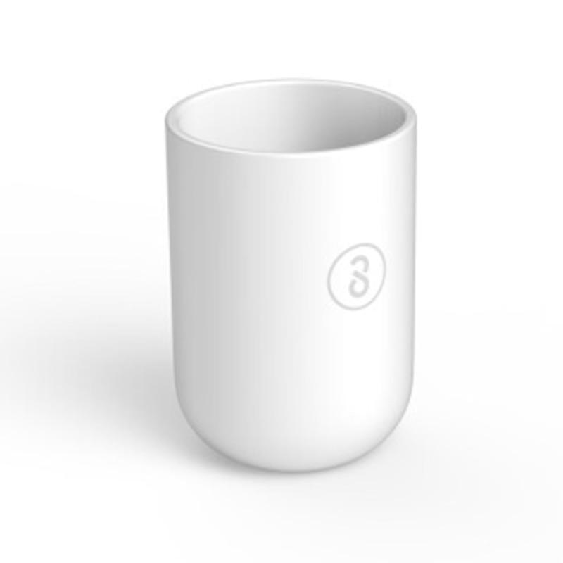 imágenes para En Stock 350 ml Xiaomi Soocare X3S Material Respetuoso Del Medio Ambiente Taza de cepillo de Dientes Suave Diseño Anti-Taza Delgado Pies Blanco Color