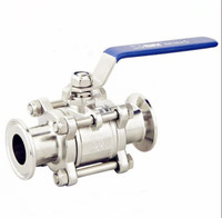 Free Shipping 1 3 Tri clamp Ball Valve,Three Chip Type Ball Valve,Swing Out Ball Valve,Stainless Steel 304