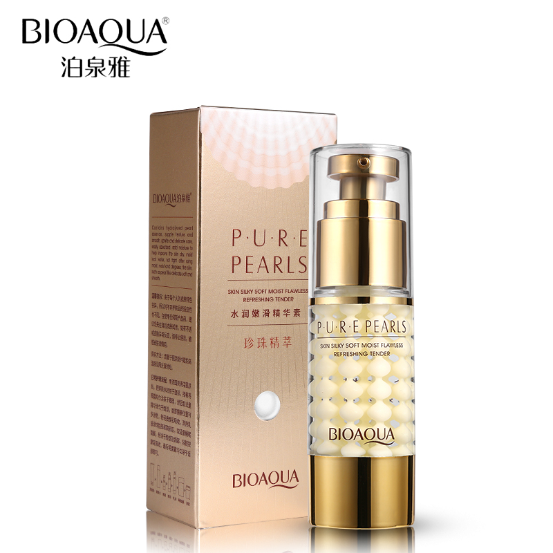 BIOAQUA Brand Skin Care Pure Pearl Essence Collagen Hyaluronic Acid Face Moisturizing Hydrating Anti Wrinkle Anti Aging Cream argireline matrixyl 3000 peptide cream hyaluronic acid ha wrinkle collagen firm anti aging skin care equipment free shipping