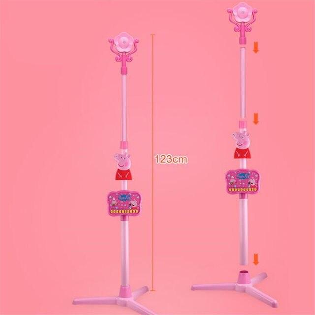 Peppa Pig Porco Cor de Rosa George pepa pig Toy Story Música Microfone  cantar K Microfone Brinquedo Educação de Ano Novo Para Crianças Presentes  para ...