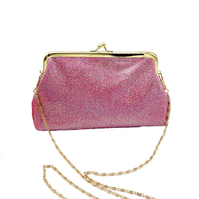 Женская Мода PU кожа с тиснением блестки сумка Ms. однотонная одежда застежкой небольшой площади сумка # F