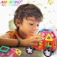 60pcs Kids Toys Educational Magnetic Blocks Designer 3D DIY Models Construction Creative Enlighten Building Toy Gifts