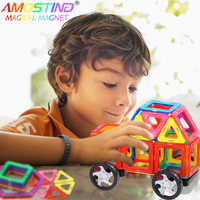 60pcs Kids Toys Educational Magnetic Blocks Designer 3D DIY Models Construction Creative Enlighten Building Toy Gifts