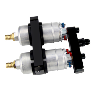 Image 5 - WLR yarış tek parça çift delik yakıt pompası braketi PQY logo + iki adet 044 yakıt pompası OEM:0580 254 044 300LPH
