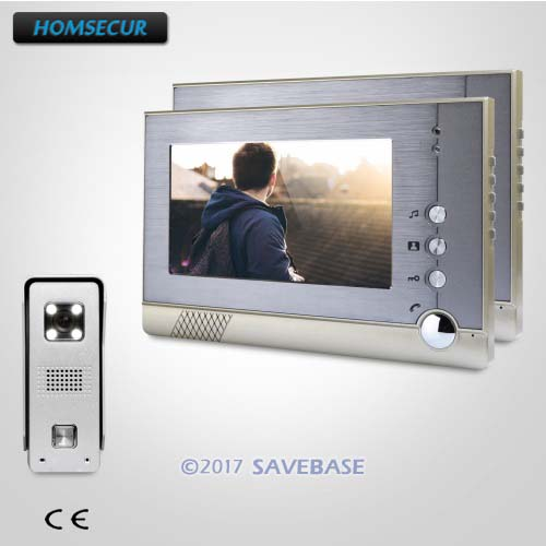 HOMSECUR 7 Hands-free Wired Video Door Entry Call System with One Button Unlock for Home Security homsecur 7 wired video door entry call system with one button unlock for home security