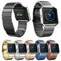Accesorios de reloj Marca Fitbit Banda de Incendio Clásico Hebilla de Moda Correa de Reloj de Pulsera de Acero Stailess Banda para Fitbit Blaze