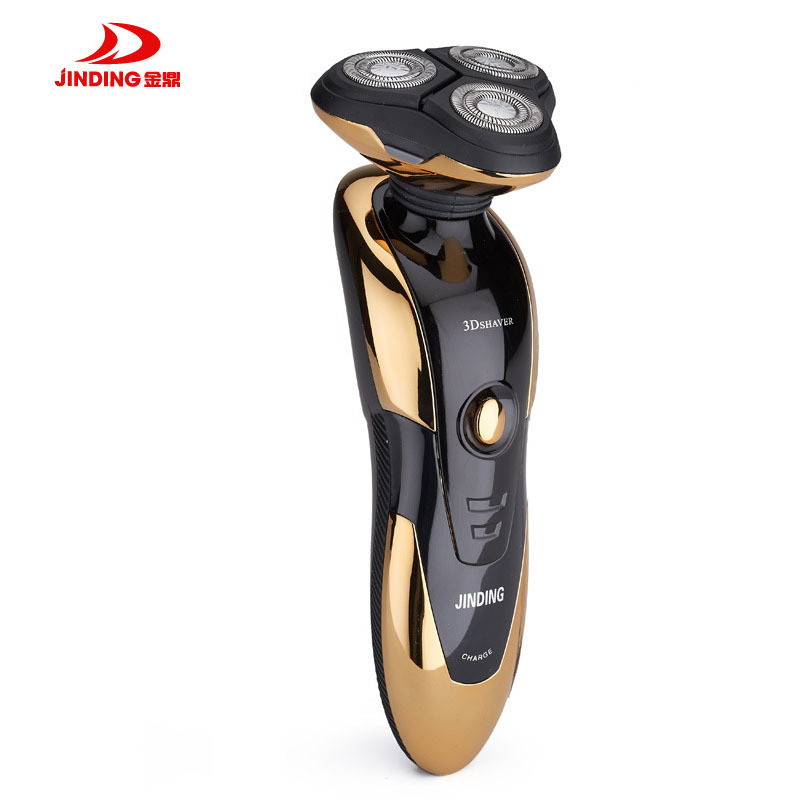 JINDING Electric Shaver for Men Rechargeable Razor 3D Floating Head Shaving Machine Beard Washable Fast Charge Triple Blade jinding gold plated electric shaver gold rechargeable shaver 3d float triple blade electric head trimmer waterproof men shaver