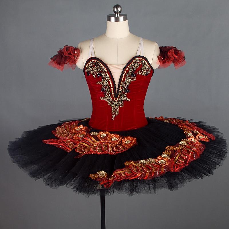 Newe Professional ballet tutus red classical ballet tutu dress for girls ballet skirt ballet costumes tutu