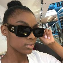 Square luxury sunglasses women's brand designer big frame Sun Glasses men 2018 R
