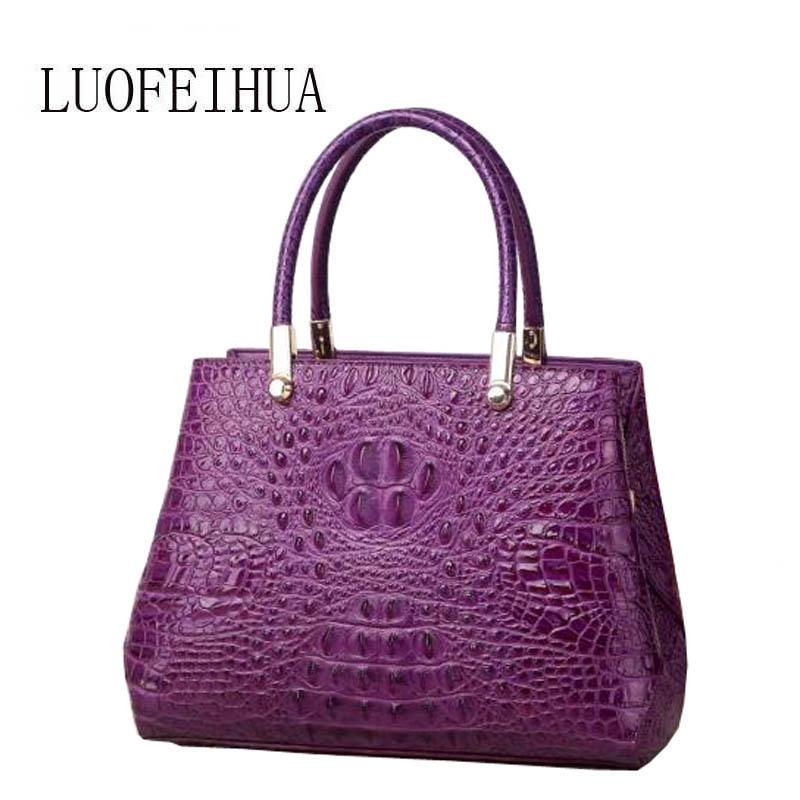 Genuine Leather women bags for women 2019 new luxury crocodile pattern handbag brand bag handbag female handbag designer handbag