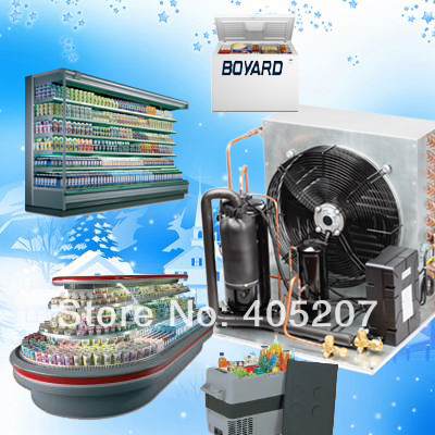 Refrigeration Condensing for small cold room supermarket island freezers display showcase cabinet cooler купить
