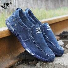 Canvas Men Shoes Denim Lace-Up Men Casual Shoes New 2018Plimsolls Breathable Male Footwear Spring Autumn Hz