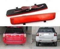 2x Range Rover L322 Freelander 2 Rear Bumper Reflector LED Brake Stop Light Red