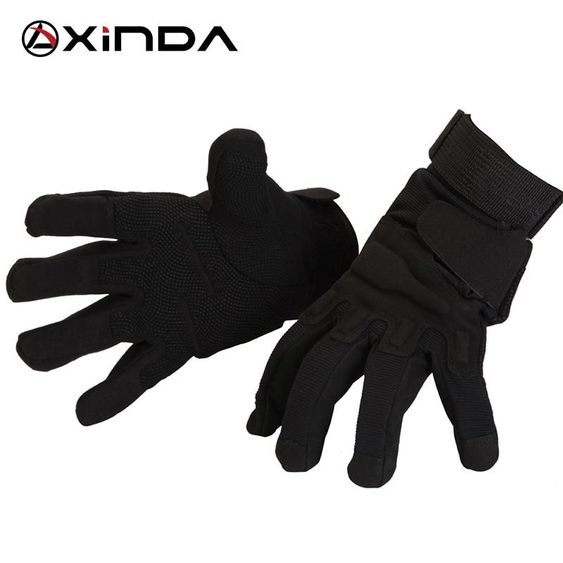 XINDA Camping Outdoor Sports Glove Rock <font><b>Climbing</b></font> Downhill Hiking Riding Anti Slip Full Fingers Tatics Gloves Survival Kit