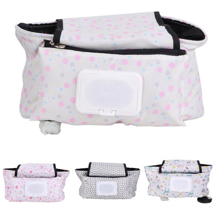 Organizer Diaper-Bag Storage-Bag Hanging Baby-Stroller for Tissue-Nursing-Bottle