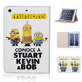 Despicable Me 3 Lovely Minions Little Yellow Man Sleep Wake Stand Leather Case Cover SkinFor ipad mini 1 2 3 P052-ip-mini