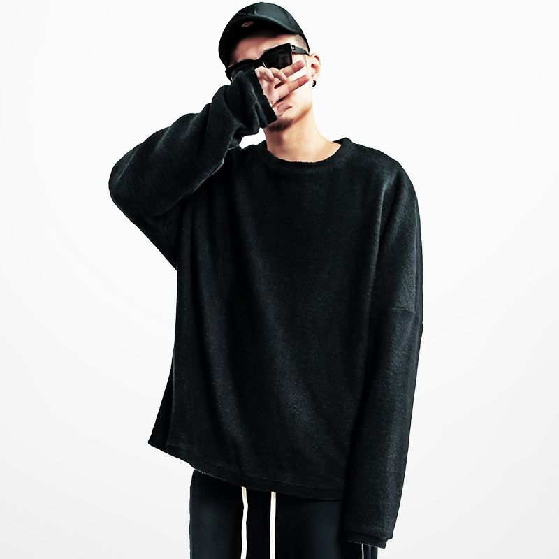 Hiphop Oversize Sweaters Men High Fashion Extra Long Sleeve ...