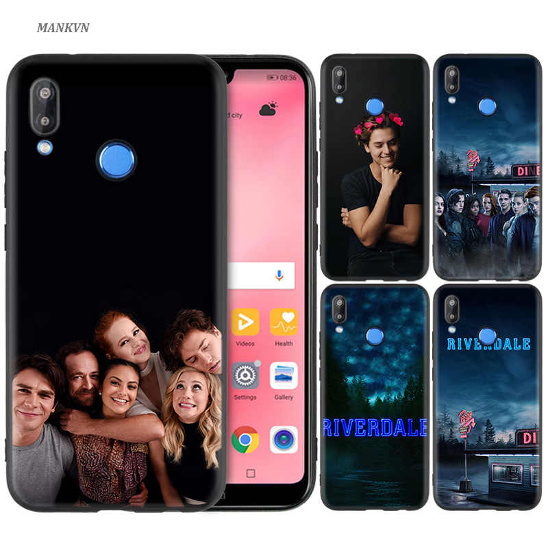 Black Silicone Case Bag Cover for Huawei P30 P20 P10 P9 P8 Mate 10 20 Lite 2017 Mini Pro P Smart Plus 2019 Riverdale Season