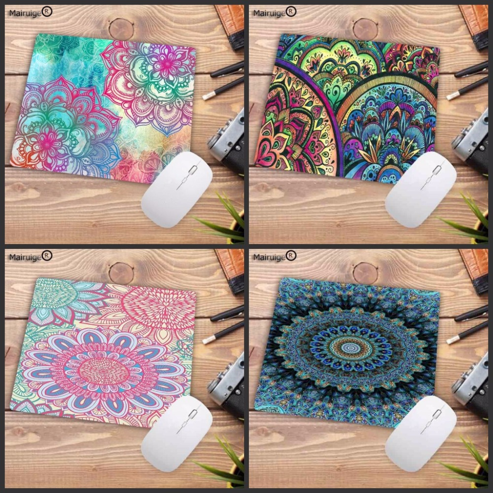 Mairuige High Quality Fshion Colorful Mandala Print Office Mice Gamer Soft Mouse Pad Size For 18x22cm 25x29cm  Speed Mousepad