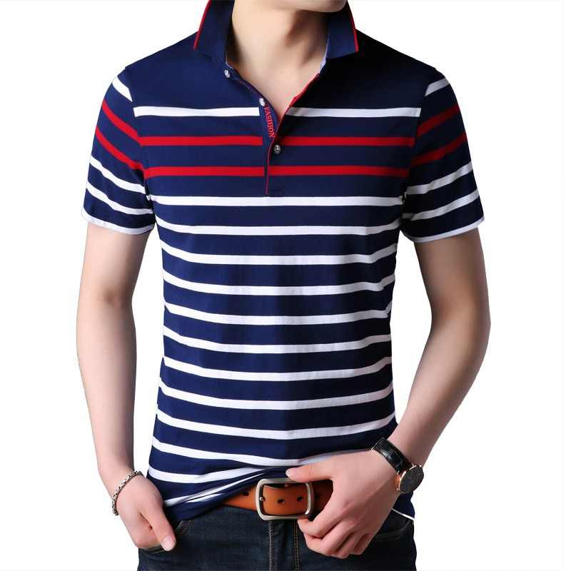 46438853bf27a Liseaven Men Polo Shirt Short Sleeve Striped Polos Male Shirt Tops Tees  Brand Clothing Men Camisas