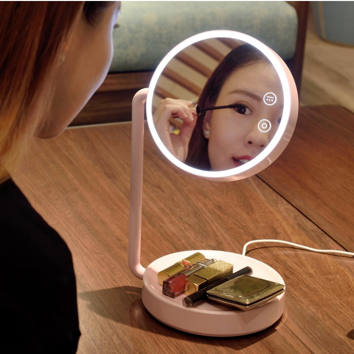 Dimmable LED Makeup Mirror Table Lamps,18cm Lighted Vanity Mirror, Make Up Mirror with Lights for Personal Care and Cosmetic декор lord vanity quinta mirabilia grigio 20x56