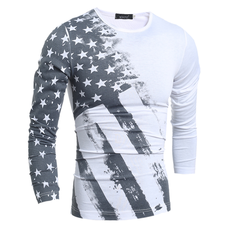 2017 Hot Sale Sale Full Fashion Spring And Autumn Men T shirt Long ...