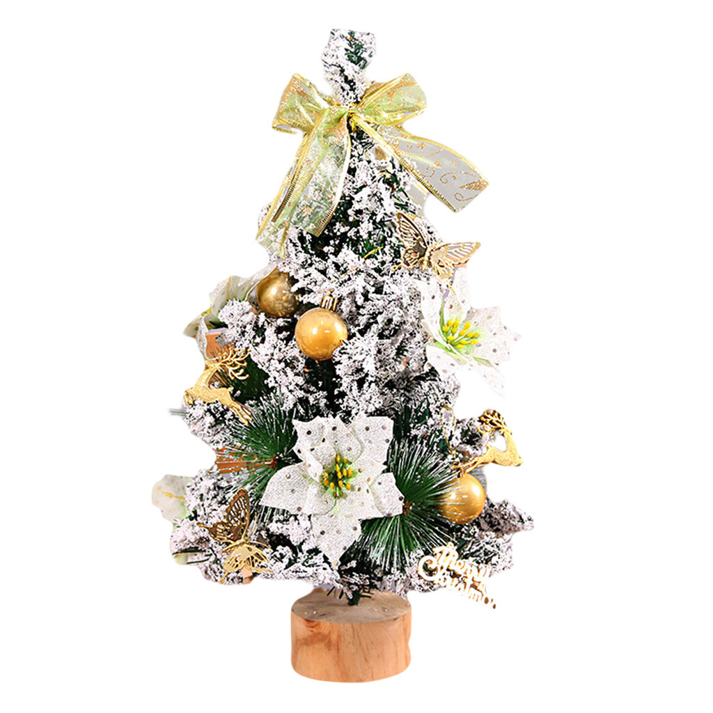 Miniature Artificial Christmas Trees: Artificial Silver Tabletop Mini Christmas Handmade Tree
