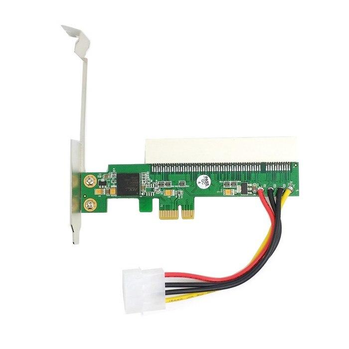 PCI-Express PCI-E PCIE X1 X4 X8 X16 Para Barramento PCI Riser Card Adaptador Conversor Com Suporte para Windows