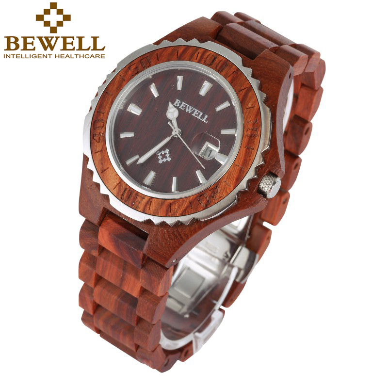 Luxury Waterproof Wristwatch Wood Watch Men Display Date Relogio Masculino Quartz Men Watches Female