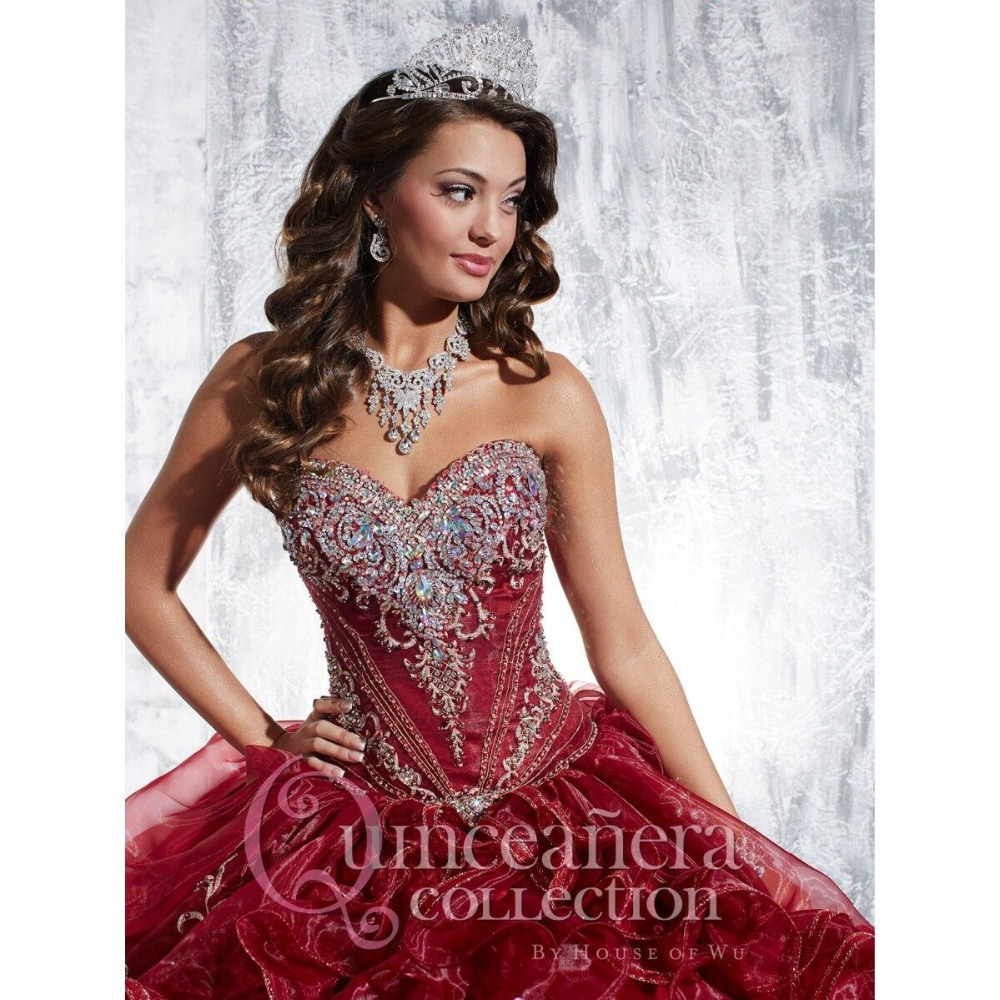 Aliexpress.com : Buy Wine red Quinceanera Dresses with Sweep Train ...