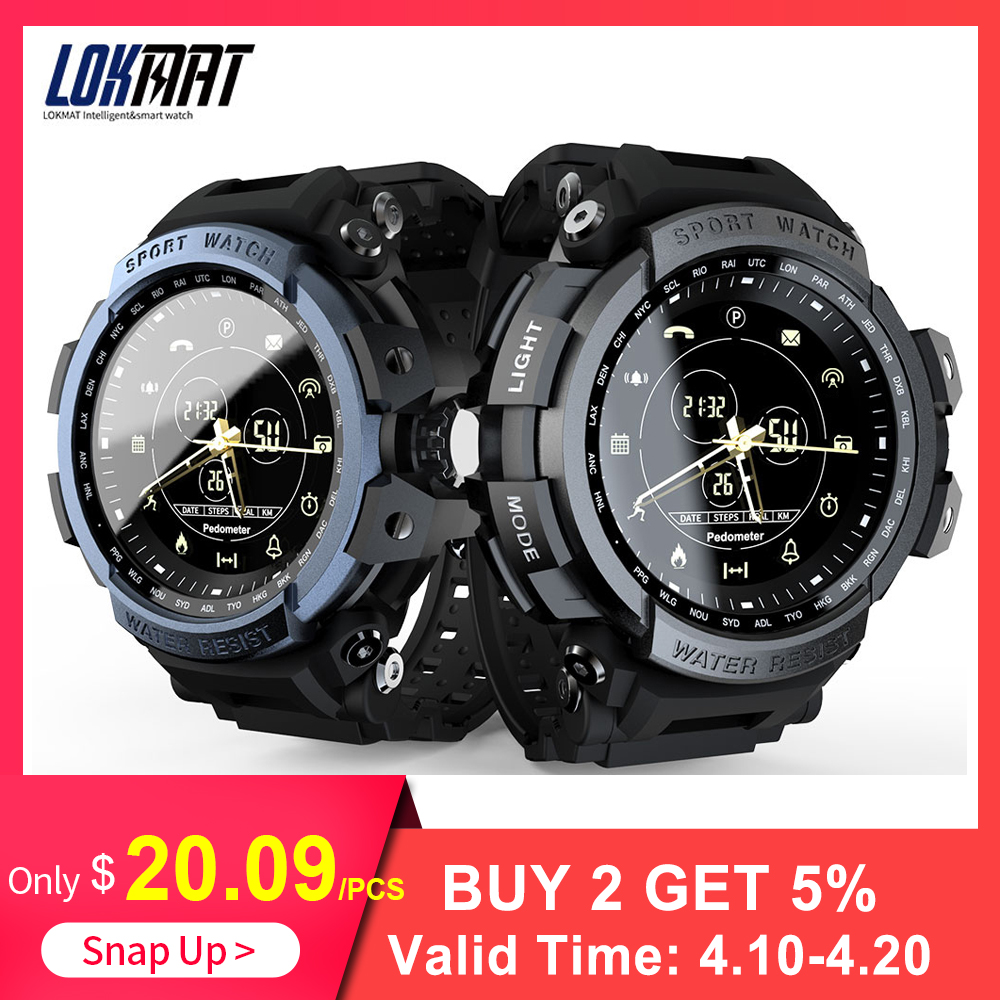 LOKMAT Sport Smart Watch  Digital Men Clock SmartWatch For ios and Android Professional 5ATM Waterproof Bluetooth Call ReminderLOKMAT Sport Smart Watch  Digital Men Clock SmartWatch For ios and Android Professional 5ATM Waterproof Bluetooth Call Reminder