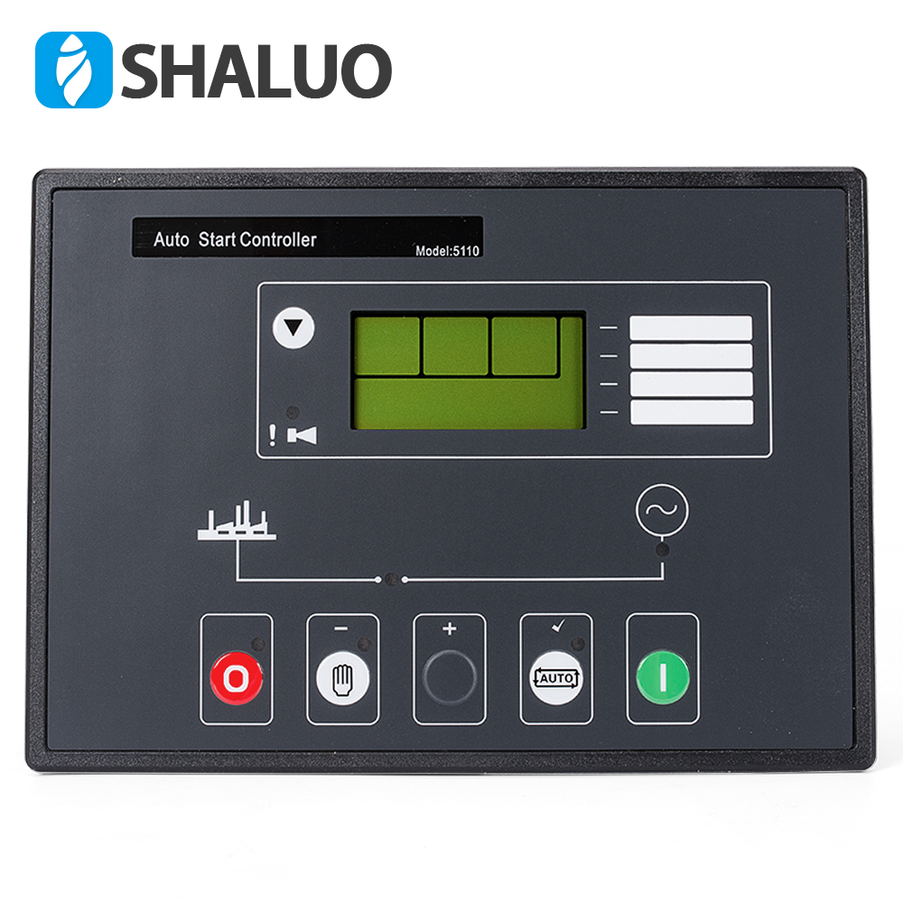 power generator controller 5110 LCD diesel alternator part automatic start control charge panel genset electronic circuit