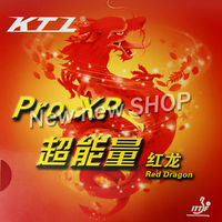 Free Shipping KTL Pro XP Red Dragon Red Pips In Table Tennis Rubber With Sponge