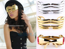 New Arrival Novelty Hand Fingers Eyewear Halloween Costume Party Funny Eye Glasses Silver/Golden 6Pcs/Lot Free Shipping
