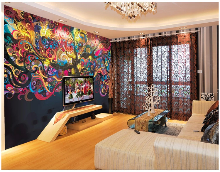 Tree Of Life Photo Wallpaper Psychedelic Custom Wall Mural Art Bedroom Bar Room Decor Natural Scenery In Wallpapers From Home