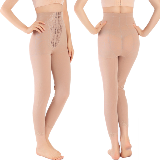 Sexy calças compridas shapers moldar o corpo perna fina abdômen butt-lifting desenho calças de comprimento no tornozelo magro shapewear