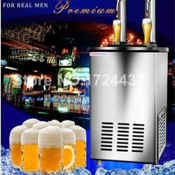 Gratis levering dubbele hoofden bier machine koud bier dispenser koud bier sap dispenser voor verkoop