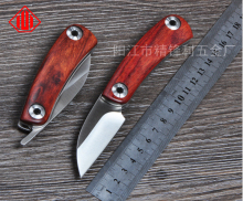 Hot mini D2 blade Natural yellow rosewood+420 steel handle folding knife camping Hunting Survival Tactical knives EDC Multi tool
